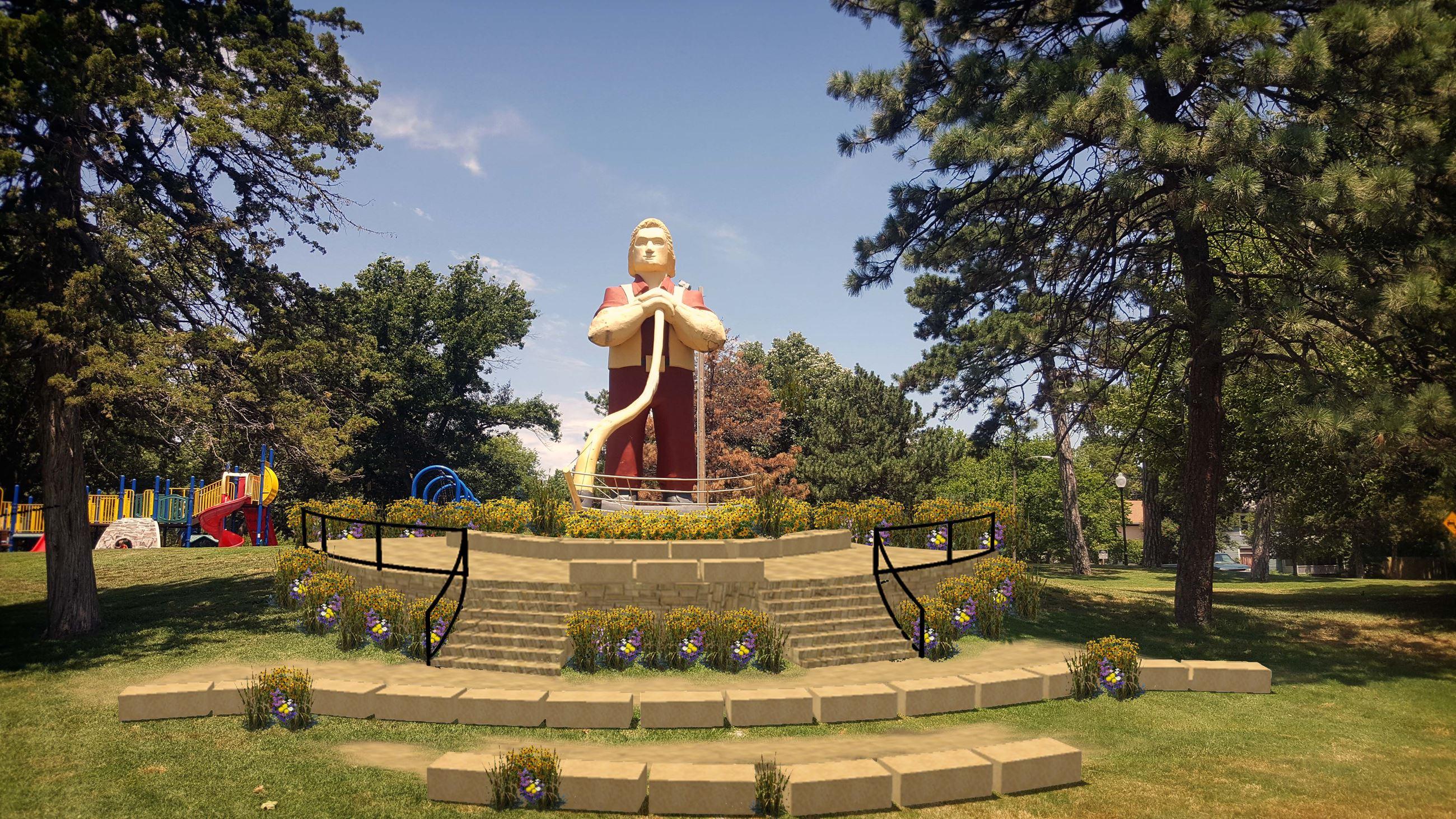 Johnny Kaw Statue | Manhattan Parks and Rec, KS