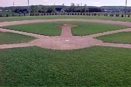 Home base at the Eisenhower Baseball Complex