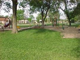 A playground in Sojourner Truth Park