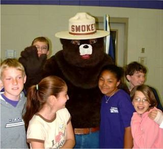 Smokey Bear and Kids