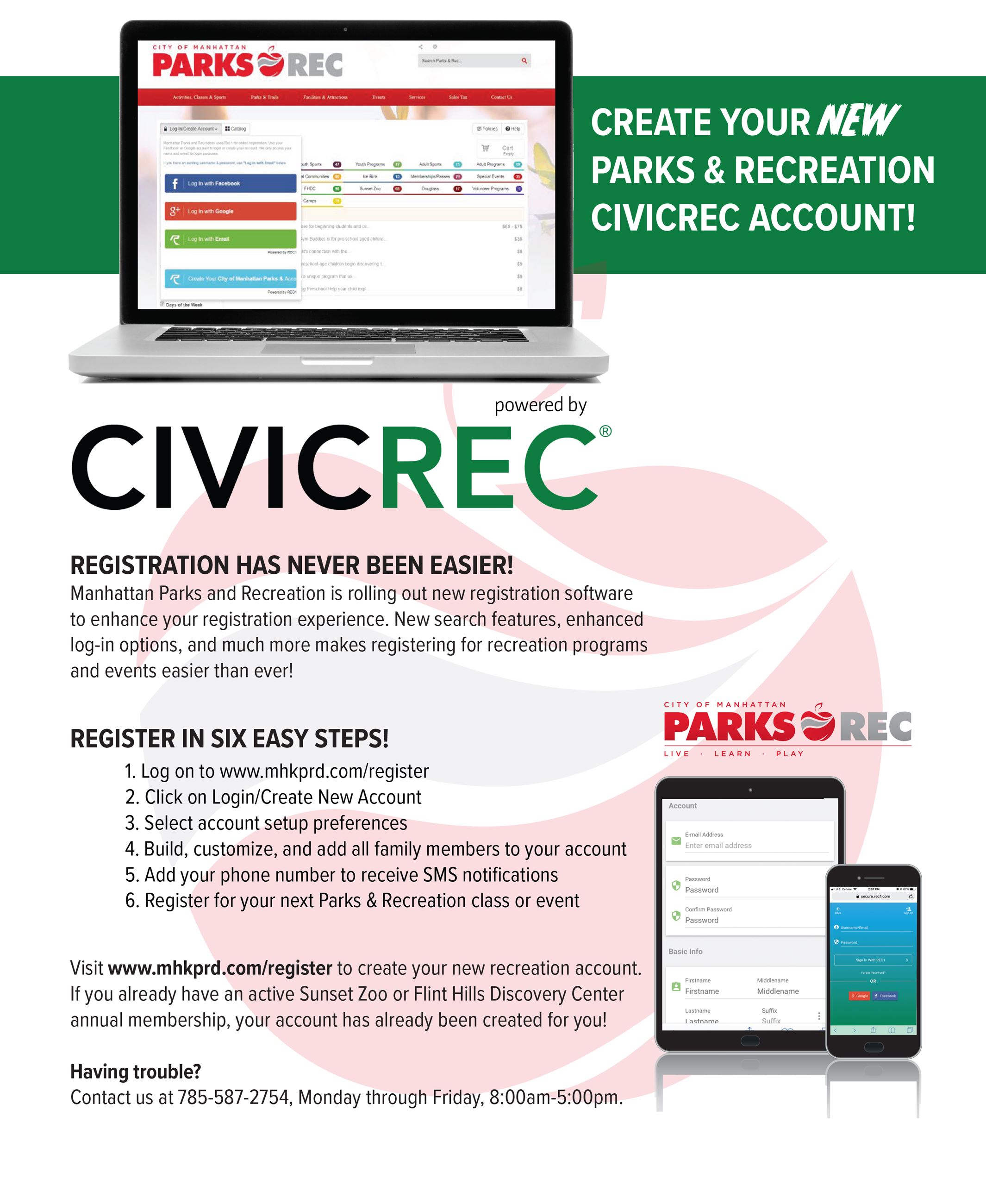 CivicRec Registration