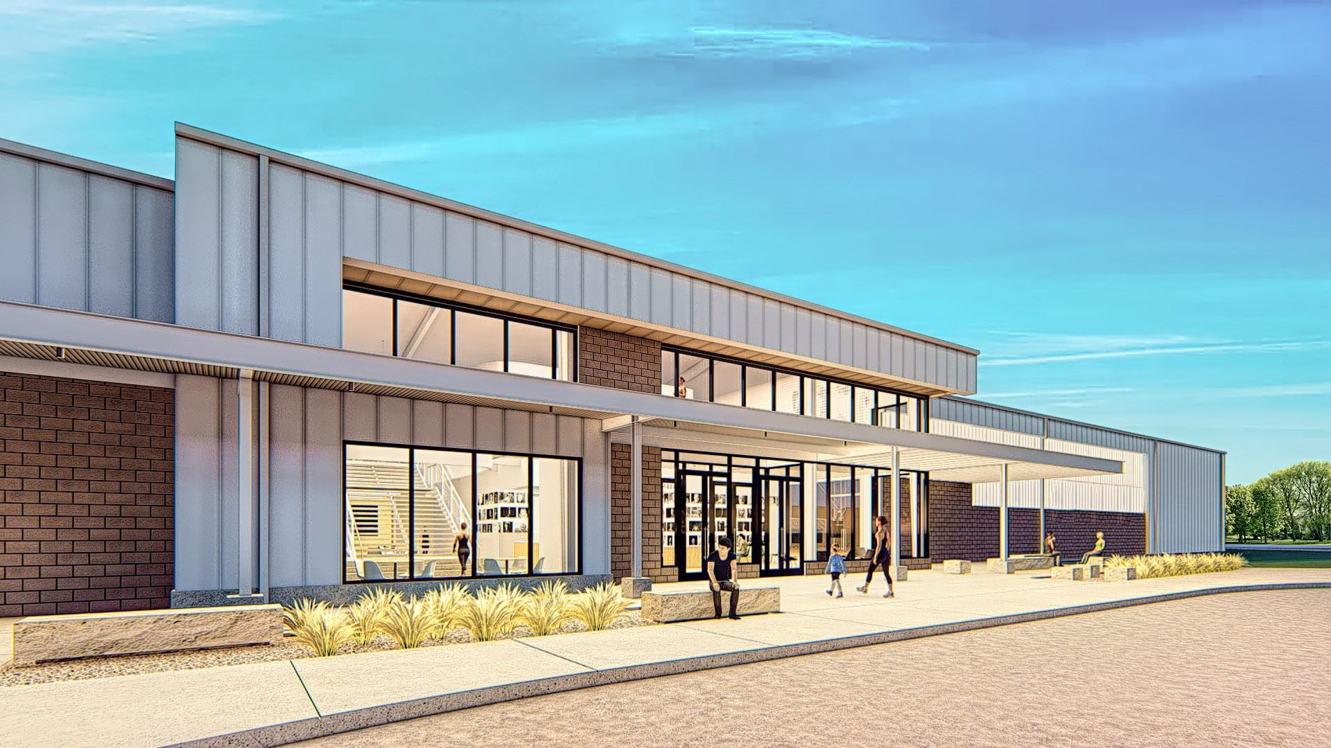 Anthony Eisenhower Middle School Community Recreation Center Rendering